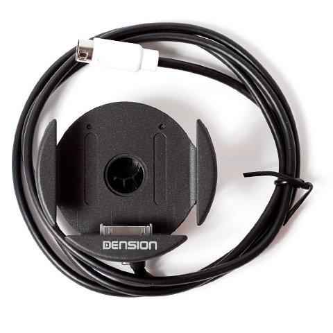 Автомобільний тримач-зарядний пристрій з адаптерами для iPhone/iPod Dension Прев'ю 1