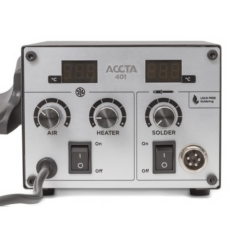 Термоповітряна паяльна станція Accta 401 Прев'ю 5